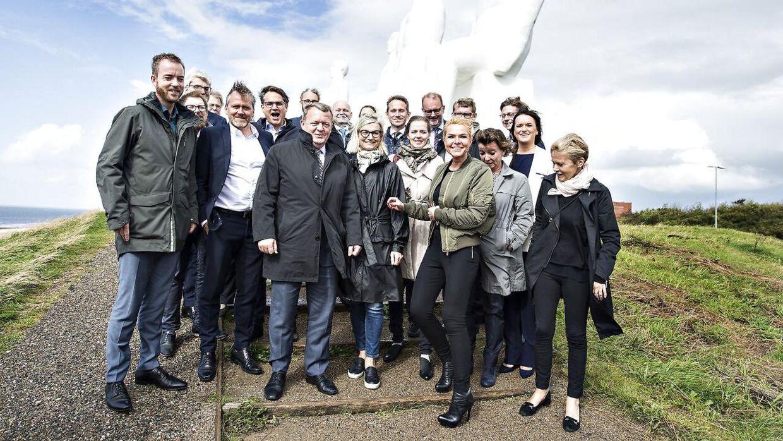 Politikere er bundskrabere på listen over de mest troværdige faggrupper. Her ses regeringen til seminar i Esbjerg i begyndelsen af ugen.