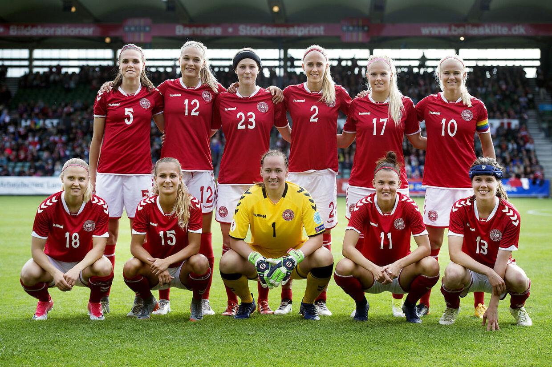 Testkamp mellem Danmark-England på Gladsaxe Stadion lørdag d. 1 juli.. (Foto: Liselotte Sabroe/Scanpix 2017)