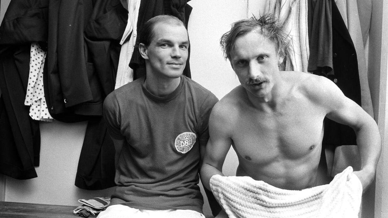 Hans Aabech til venstre sammen med Niels-Christian Holmstrøm.