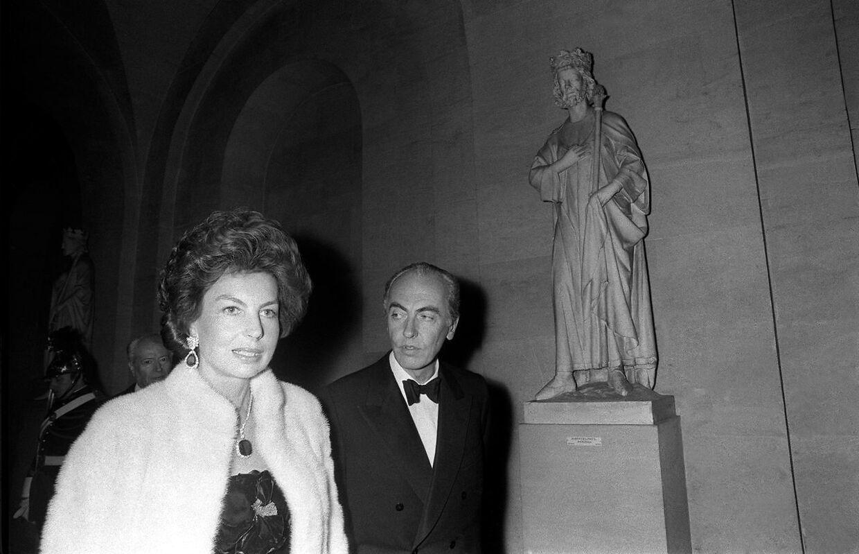 Liliane Bettencourt og hendes mand André, som var minister i en årrække.