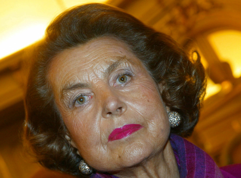 Arkivfoto af verdens rigeste kvinde, Liliane Bettencourt, som døde i onsdag.