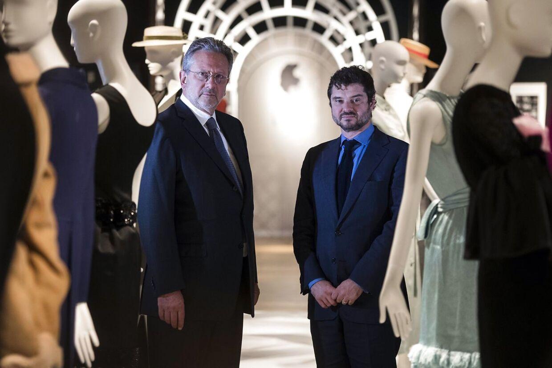 Det er Audrey Hepburn to sønner, Sean Hepburn-Ferrer (tv) og Luca Dotti (th), der har sat deres mors private ting til salg.