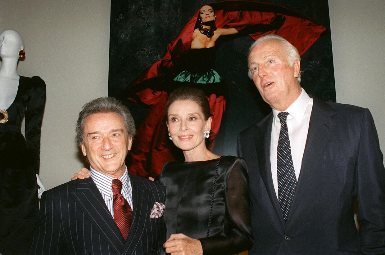 Audrey Hepburn med Hubert de Givenchy i 1991.