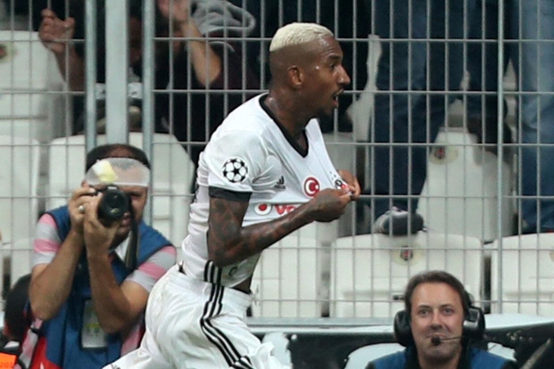 Anderson Talisca bragte tirsdag Besiktas foran med 2-0 i sejren over RB Leipzig. Reuters/Osman Orsal