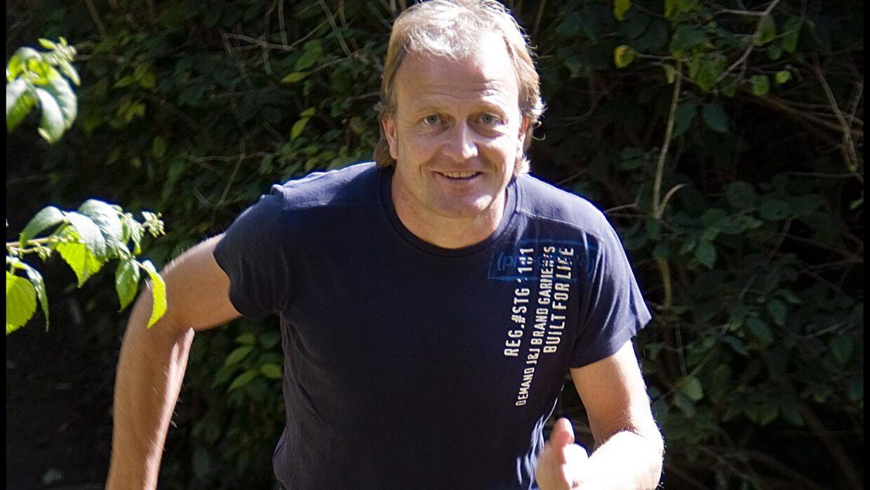 Den gamle landsholdskæmpe Klaus Berggreen løber to til tre gange om ugen og elsker det sociale miljø omkring træningen. Foto: Nils Meilvang