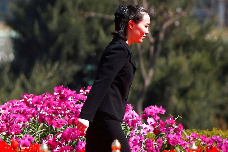 Kim Yo-jong ved en åbningsceremony tidligere i år.