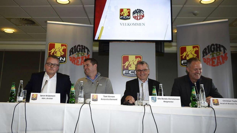 FC Nordsjælland har torsdag afholdt pressemøde ved Right to Dream Park i Farum. Her afslørede klubben, at den også vil satse på kvinde-og pigefodbold fremover.