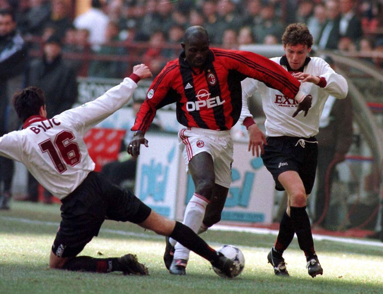 George Weah, som han så ud, da han spillede for AC Milan.