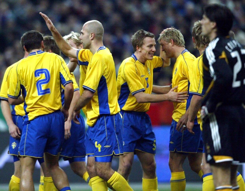 Svenske landsholdsspillere sendte billeder af deres penis til en kvindelig ansat i det svenske fodboldforbund. Spillerne på dette billede har ikke nødvendigvis noget med historien at gøre.