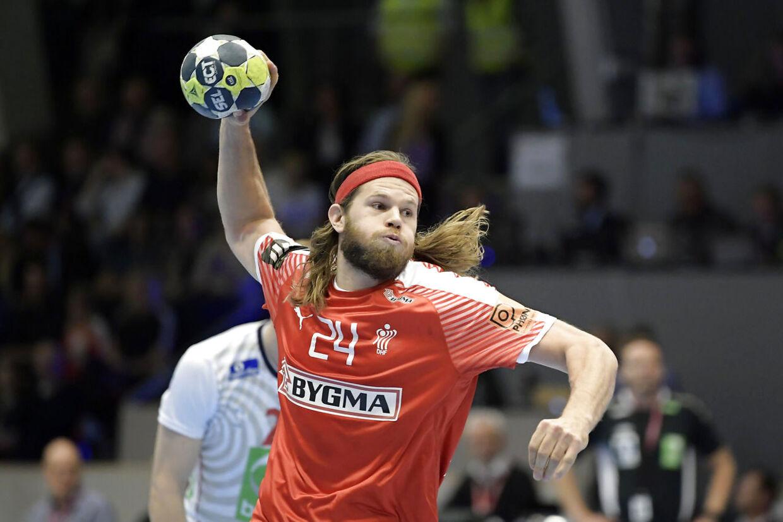 e59eb0ad7ad Mikkel Hansen i aktion mod Norge i turneringen Golden League torsdag d. 26  oktober 2017
