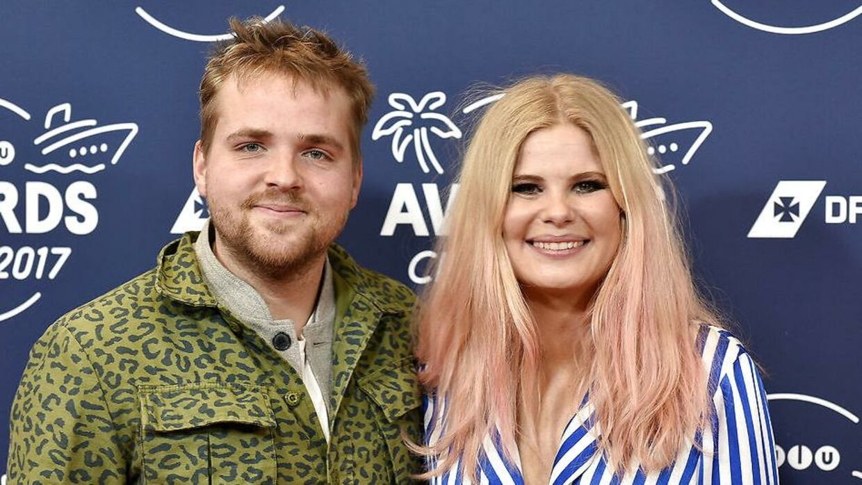 Joakim Ingversen og Sofie Linde til 'Zulu Awards 2017'.