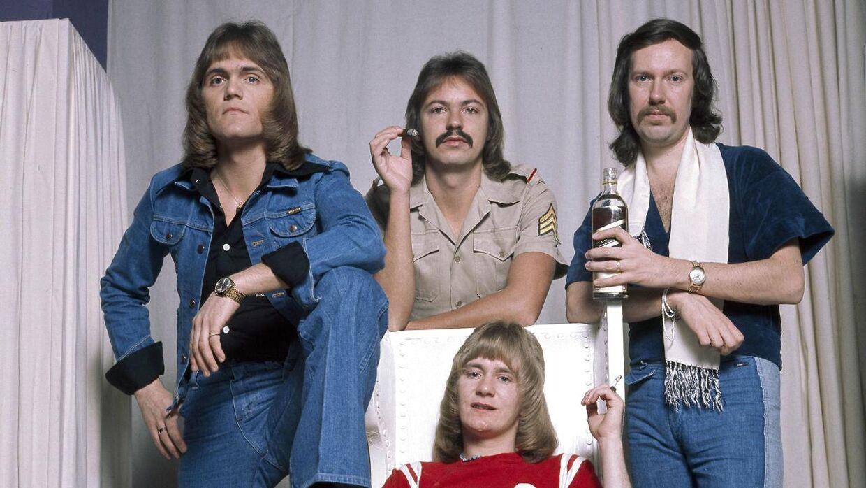 Høj cigar- og whiskyføring af The Walkers. Fra venstre: Jan Hansen, Poul Dehnhardt, Gert Michelsen og Torben Lendager.