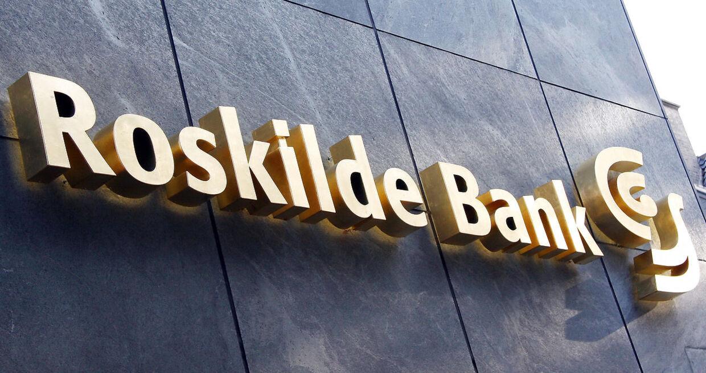 (ARKIV) Roskilde Bank den 4. oktober 2008. Østre Landsret finder ikke, at den tidligere ledelse og revision i Roskilde Bank er ansvarlige for de tab, banken led, da den kollapsede under finanskrisen.. (Foto: Brian Bergmann/Scanpix 2017)