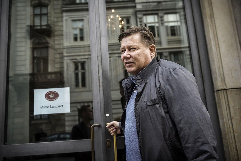 Jesper Kasi Nielsen foran Østre Landsret i forbindelse med skattesagen imod ham.