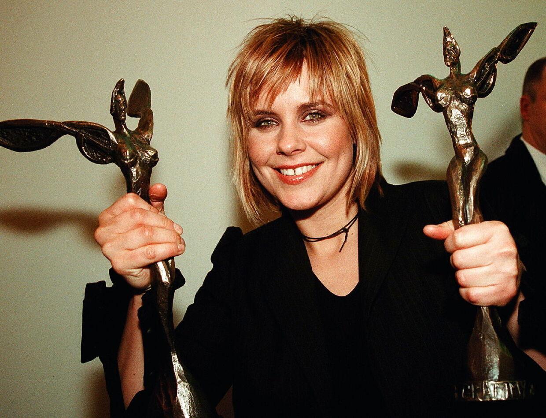 Marie Frank til Danish Music Awards i 2000 hvor hun vandt fire priser - blandt andet prisen som 'årets danske sangerinde'.