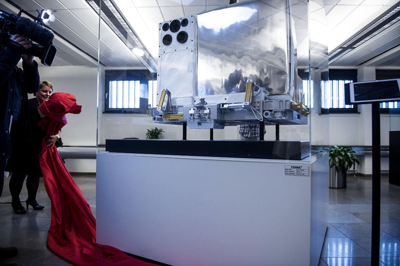 Den danske Astronaut Andreas Mogensen løfter sløret for Danmarks største rumprojekt - ASIM, mandag den 20. november, 2017. Atmosphere-Space Interactions Monitor. ASIM er et avanceret observatorium, der skal monteres udvendigt på Den Internationale Rumstation (ISS). Opsendelsen til ISS er fastsat til medio marts 2018 med en SpaceX Falcon 9 løfteraket fra Kennedy Space Center i Florida. (Foto: Sarah Christine Nørgaard/Scanpix 2017)