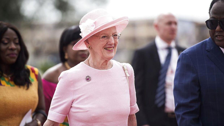 Den officielle velkomst af Dronning Margrethe i Ghana, torsdag den 23. november, 2017.. (Foto: Sarah Christine Nørgaard/Scanpix 2017)