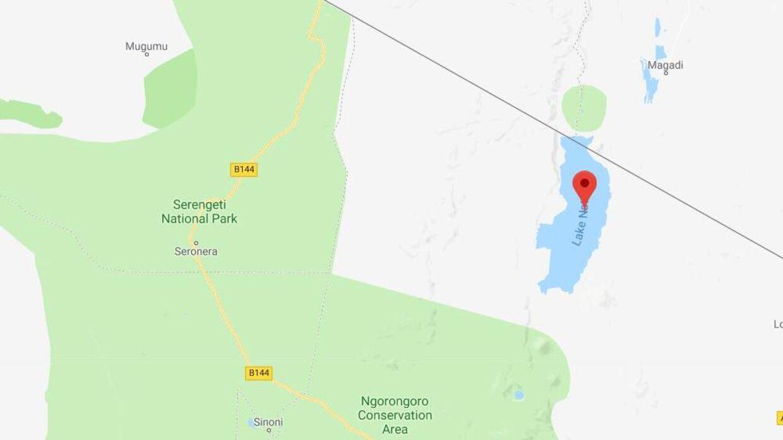 Røveriet fandt sted tæt på landsbyen Moroni i nærheden af Lake Natron.