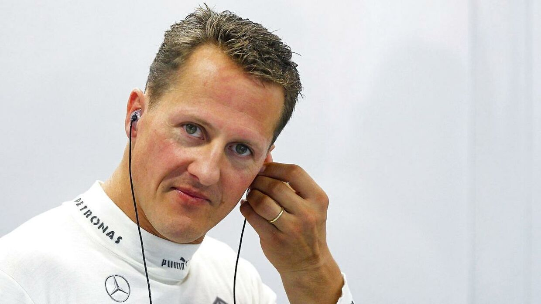 Michael Schumacher fik en speciel hilsen, da han blev optaget i Formel 1s nye Hall og Fame.