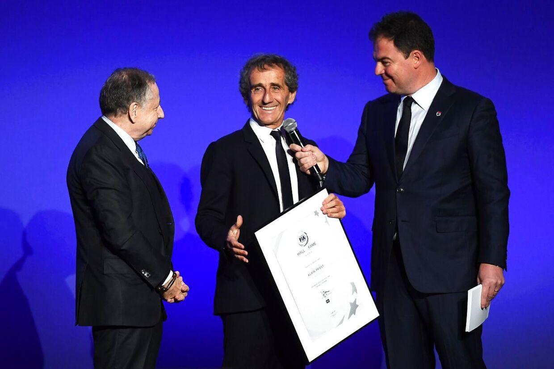 Alain Prost (i midten) er optaget i Hall of Fame.