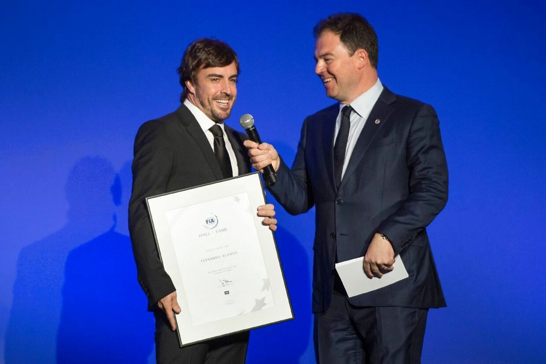Fernando Alonso (tv.) er optaget i Hall of Fame.