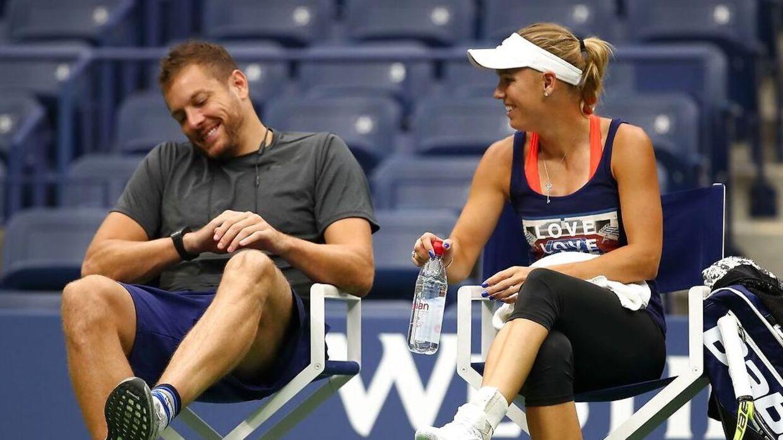 Caroline Wozniacki og David Lee.