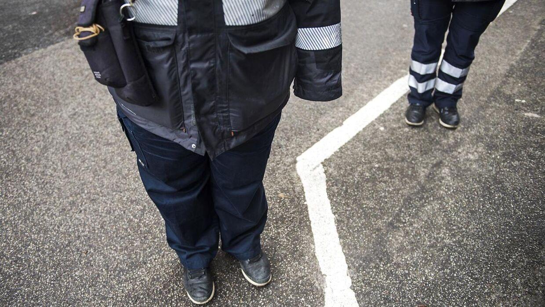 P-vagter bliver ofte udsat for chikane på arbejdet. Personerne på arkivbilledet har ikke noget med sagen at gøre.