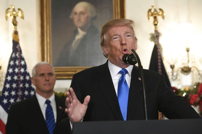 USA vil flytte ambassade til Jerusalem, og bygningen skal være en hyldest til fred, siger præsident Trump.