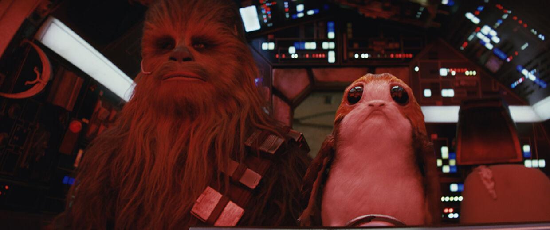 Masser af glædelige gensyn og møde med nye spøjse figurer. Her gamle Chewbacca med 'sin nye ven'. Foto: Lucas Film Ltd.