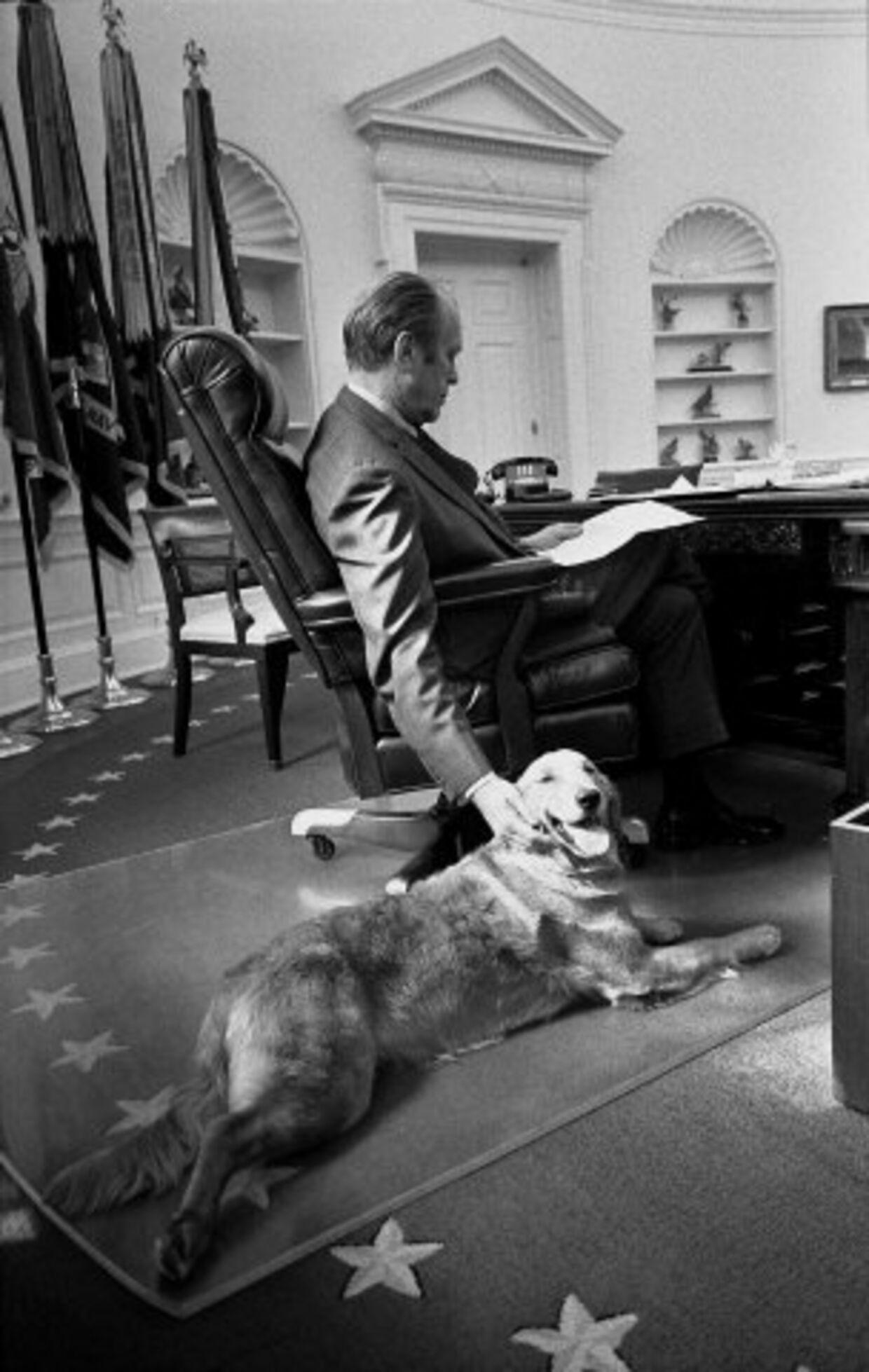 Gerald Ford var meget glad for hunden Liberty.