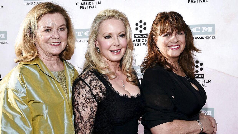 Tre af Von Trapp børnene samlet ved filmens 50 års jubilæum. Det er Heather Menzies-Urich yderst til venstre.