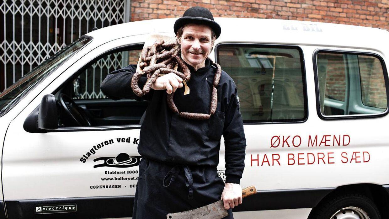 Slagteren Jens Slagter gik meget op i økologi.
