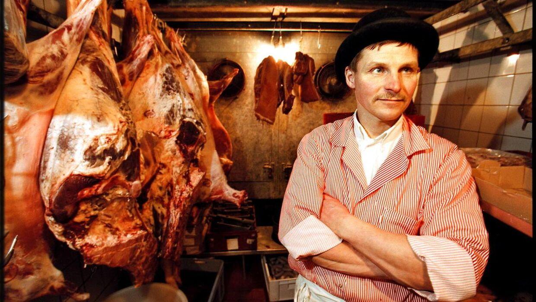Slagter Jens Pedersen fra den økologiske slagterbutik på Kultorvet i København.