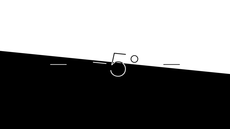 Vaterpasset er sort/hvidt, når det ikke er i vater.