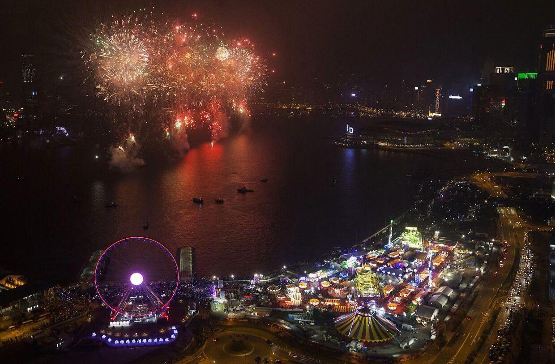 Victoria Harbour i Hong Kong.