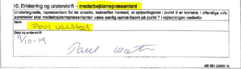 Poul Valsted er ledelsesrepræentant for Øens Murerfirma og har i 16 tilfælde skrevet under på vegne af medarbejderne, og det har udløst billig, kommunalt støttet arbejdskraft til Øens Murerfirma i strid med loven.