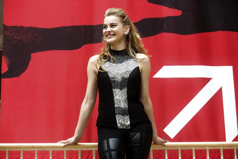 Emmelie De Forest åbner udstilling på Nationalmuseet om hendes sejr ved det internationale Melodi Prand Prix.