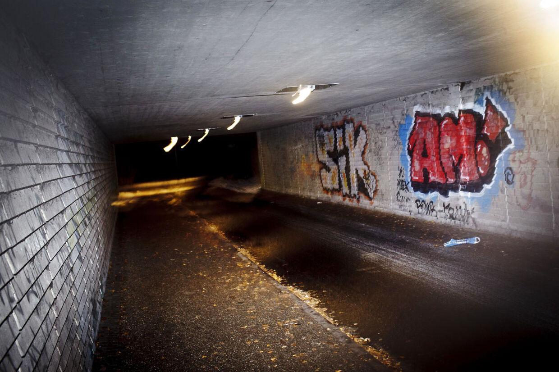 Politiet har sigtet en 40-årig mand, der er sigtet for voldtægter og forsøg på samme på ni kvinder. De fleste voldtægter er foregået i og omkring denne tunnel i Tingbjerg.