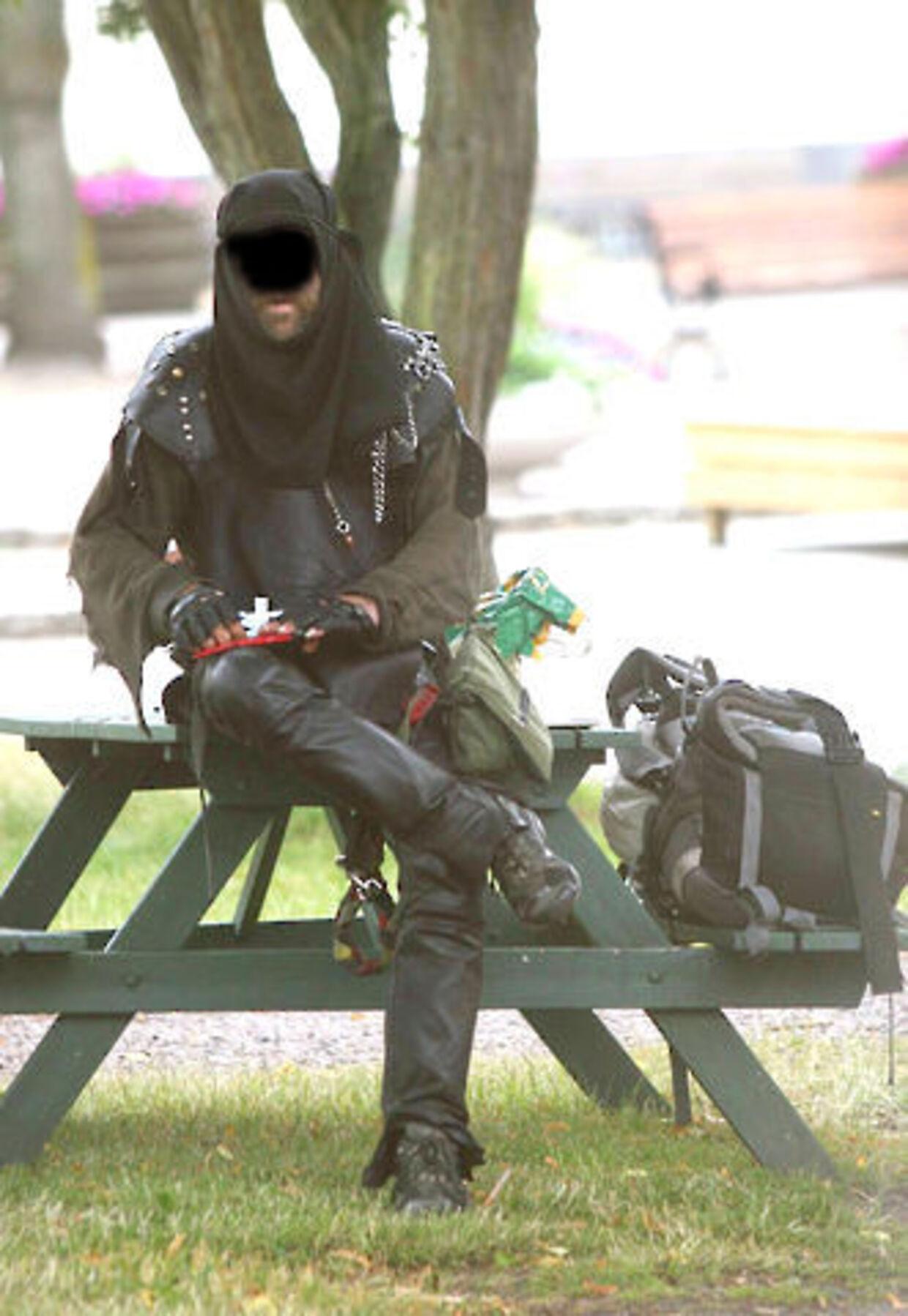 Ninjamanden er frygtet i Vanløse, hvor han bor. Foto: Scanpix.
