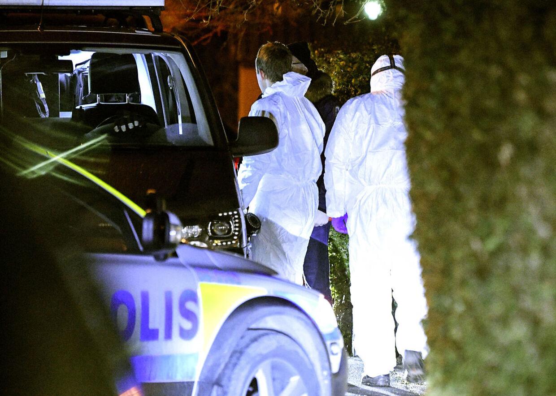 Politiaktion i Bjärred nær Lund i Sverige, tirsdag den 9. januar 2018.