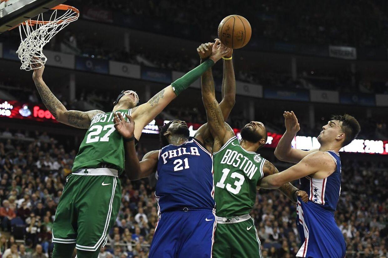 Boston Celtics mod Philedelphia 76ers trak stjerner til 02 Arena i London