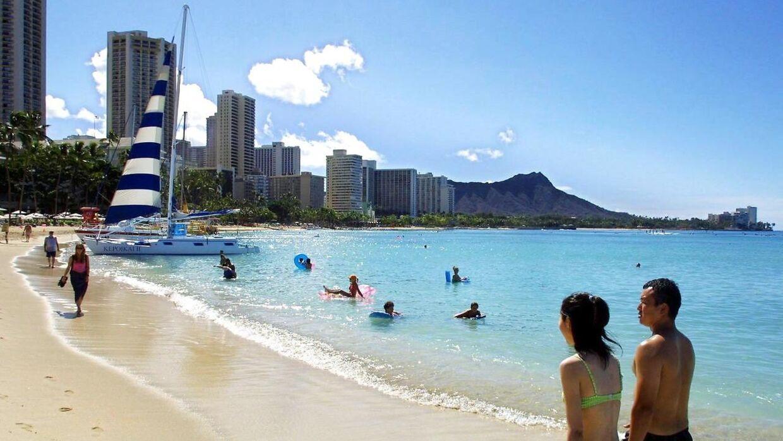 Waikiki Beach, Hawaii.