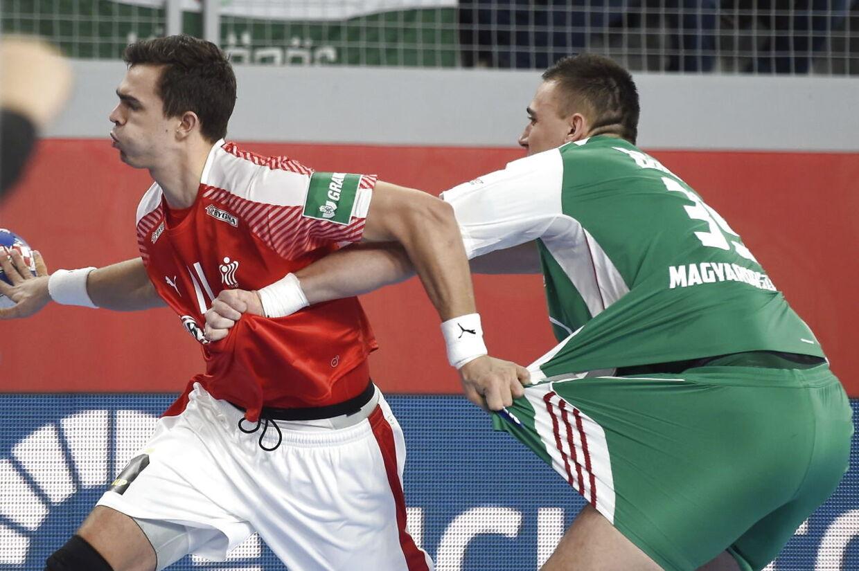 EM kamp mellem Danmark-Ungarn i Arena Varazdin i Kroatien lørdag den 13 januar 2018.