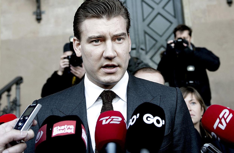 Nicklas Bendtner foran byretten i 2013 sigtet for spirituskørsel i København - 25 år gammel.