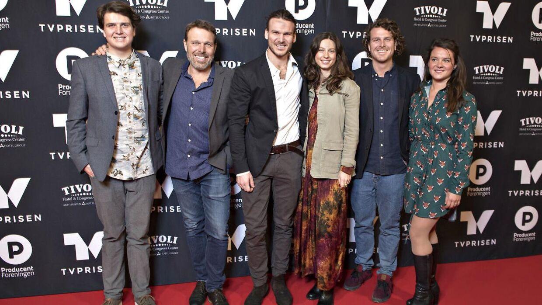 Familien Beha Erichsen til TV-prisen. (Foto: Jens Nørgaard Larsen/Scanpix 2018)