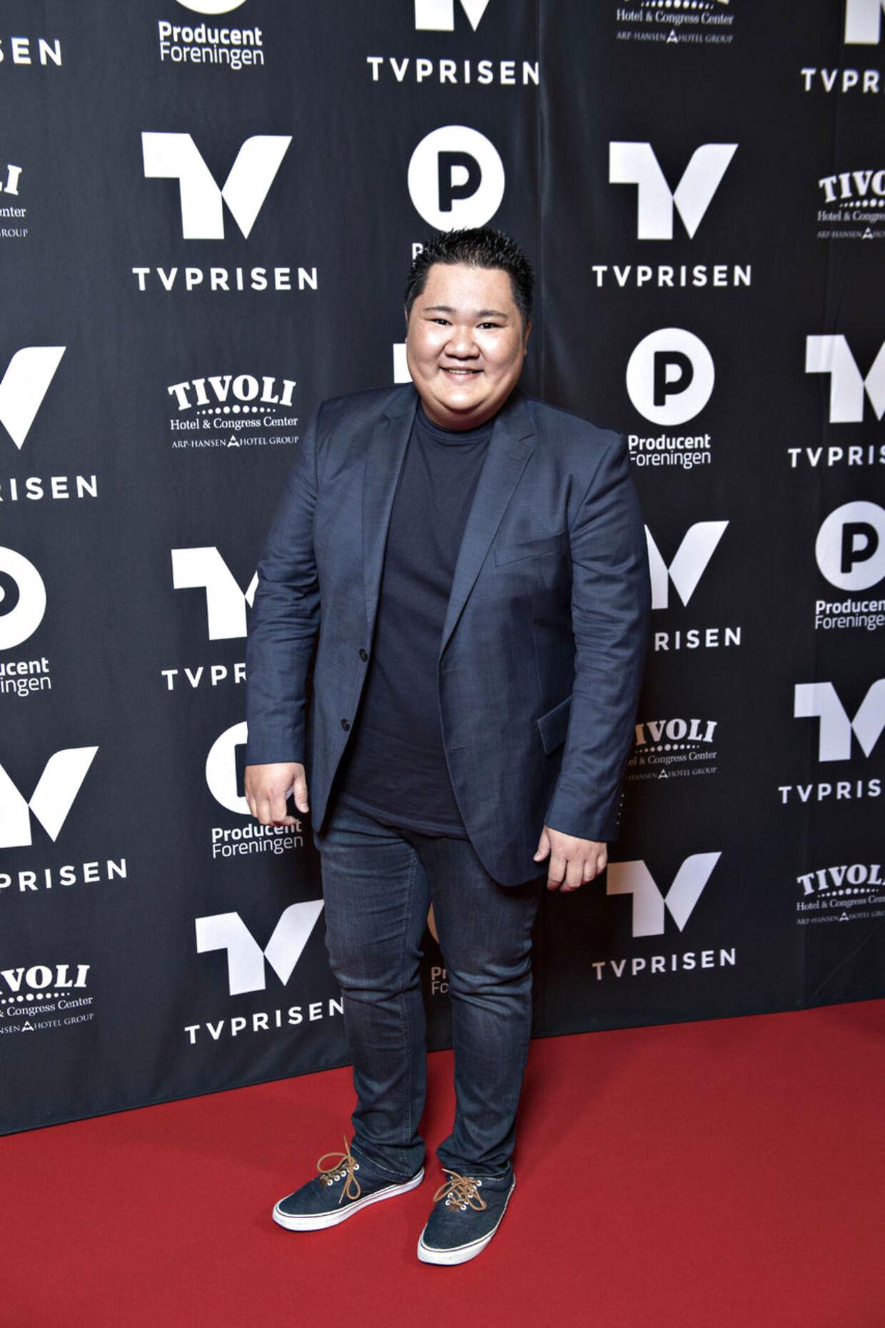 Micki Cheng ankommer til TV-prisen, prisuddelingen der hædrer den danske tv-branche. (Foto: Jens Nørgaard Larsen/Scanpix 2018)