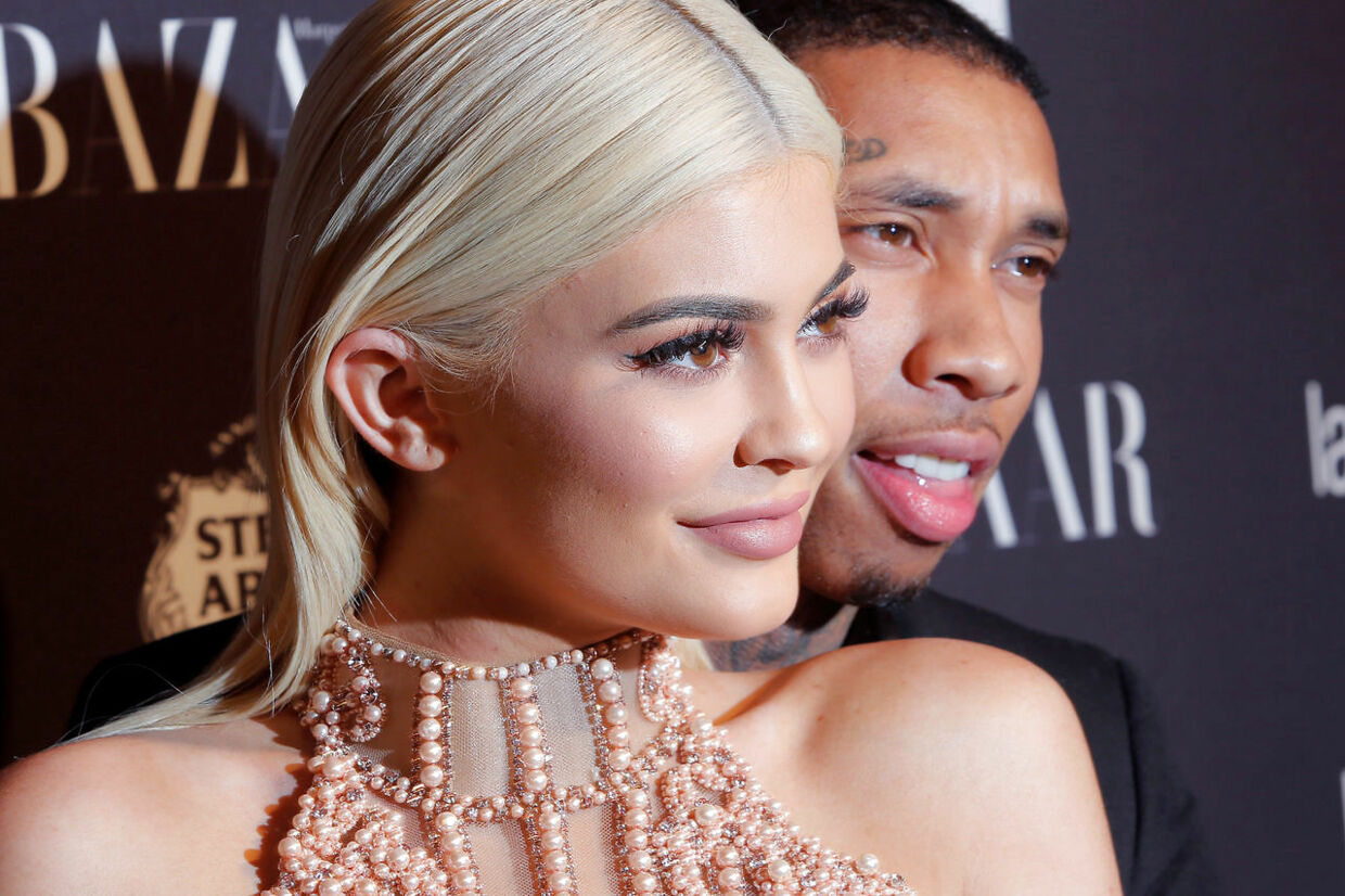 FILE PHOTO: Tyga and Kylie Jenner attend Harper's Bazaar's celebration of 'ICONS By Carine Roitfeld' at The Plaza Hotel during New York Fashion Week in Manhattan, New York, U.S., September 9, 2016. REUTERS/Andrew Kelly/File Photo