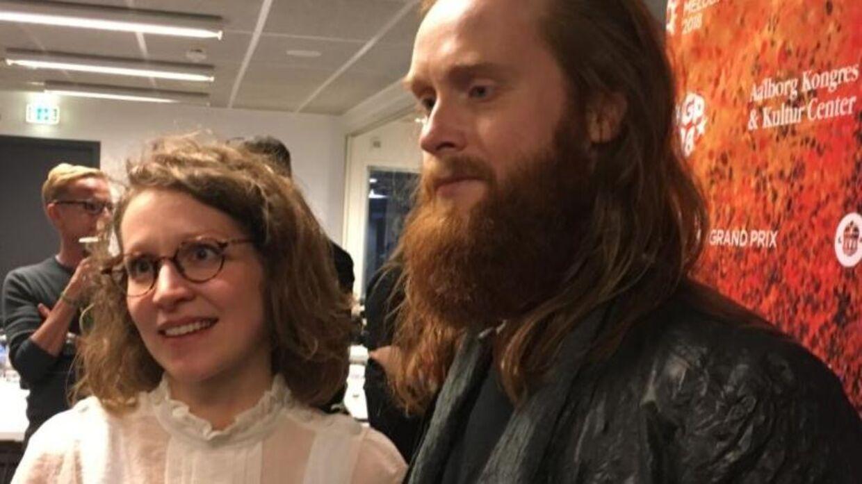 Grandprix-vinder Jonas Flodager Rasmussen med sin hustru Mia Mimi Flodager.