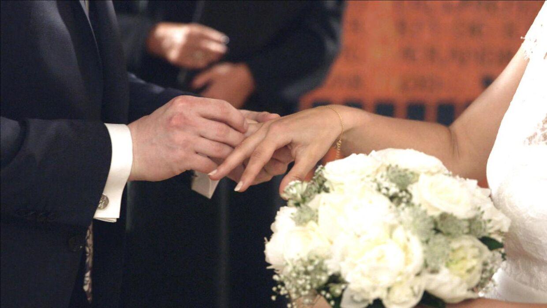 Arkivfoto fra den danske udgave af 'Gift ved første blik'.