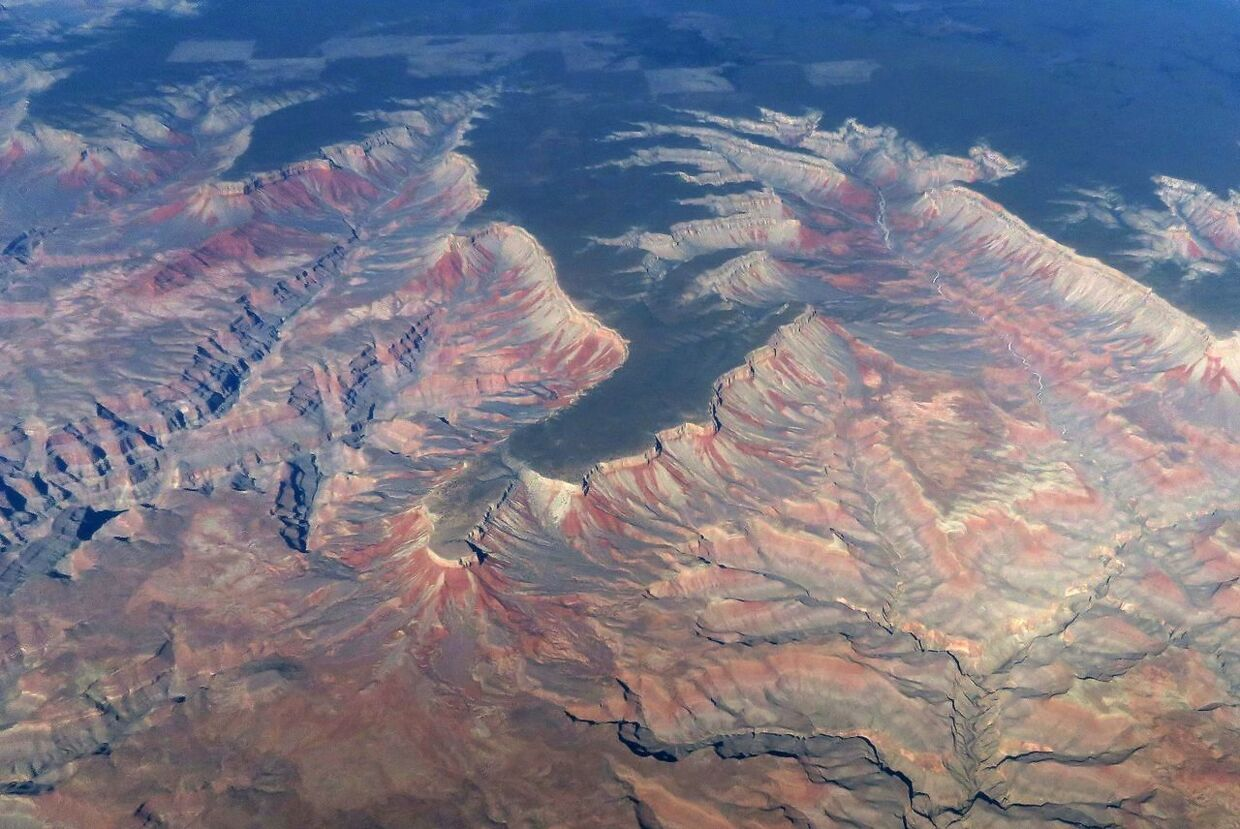 (FILES) this file photo taken on February 15, 2017, shows an aerial view of the Grand Canyon in Arizona. Three British tourists have been killed in a US helicopter crash after the chopper went down in the Grand Canyon, Britain's foreign ministry said late on February 11, 2018. A further three British people and the pilot were injured when the accident happened at around 5:20 pm (0020 GMT) on February 10. / AFP PHOTO / RHONA WISE